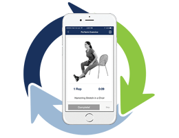 The In Hand Health physical therapy telehealth solution uses asynchronous telehealth communications