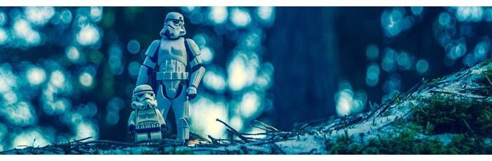 One of our employees who writes our physical therapy software didn't really go out in the snowy woods and stage this picture with Star Wars figurines. As far as we know anyway.